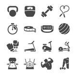 Fitness icons. Flat Design Illustration: Fitness icons Stock Image