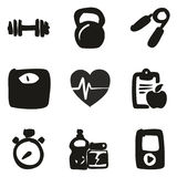 Fitness Icons Freehand Fill. This image is a illustration and can be scaled to any size without loss of resolution Stock Photography