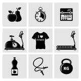 Fitness Icons. Fitness and Health vector icons set Stock Photography