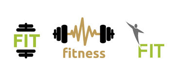 Fitness icons Royalty Free Stock Photos