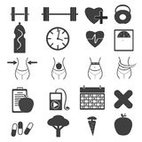 Fitness icons. This is image of fitness icons Stock Photography