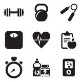 Fitness Icons Royalty Free Stock Photo