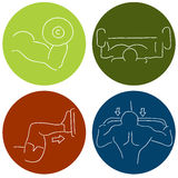 Fitness Icons. An image of a muscle building fitness icons Stock Photography