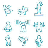 Fitness icons Stock Photo