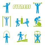 Fitness icons. Over white background  illustration Stock Photo