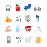 Fitness icons. This is a series of vector icons on fitness themes Royalty Free Stock Images