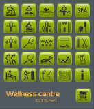 Fitness Icons Set Stock Image