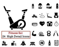 24 Fitness Icons Royalty Free Stock Image
