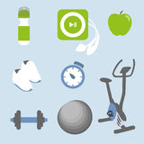 Fitness icons set Stock Image
