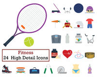 24 Fitness Icons Stock Photos