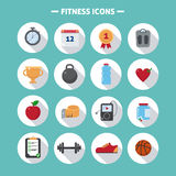 Fitness Icons Set. In Flat Style in vector Stock Photos