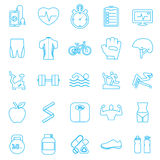 Fitness Icons set. Fitness ,Icons, set,gym, EPS10 Royalty Free Stock Images