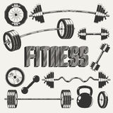 Fitness icons set Royalty Free Stock Images