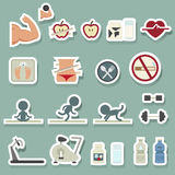 Fitness icons set. Illustration of fitness icons set Stock Photo