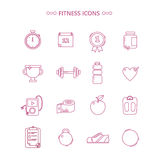 Fitness Icons Set. In Outline Style in vector Stock Photo
