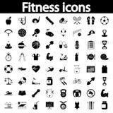 Fitness icons set Stock Photo