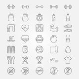Fitness icons set Royalty Free Stock Photography