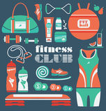 Fitness Icons set. Royalty Free Stock Images