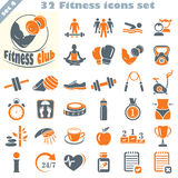 Fitness icons set (4) Stock Photos