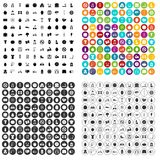 100 fitness icons set vector variant. 100 fitness icons set vector in 4 variant for any web design isolated on white Royalty Free Stock Image