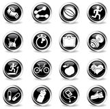 Fitness icons set. For web sites and user interface Royalty Free Stock Images