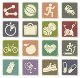 Fitness icons set. For web sites and user interface Royalty Free Stock Image
