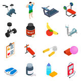 Fitness icons set. On white background Royalty Free Stock Images