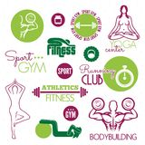 Fitness icons. Vector illustrations of the Fitness icons Royalty Free Stock Photos