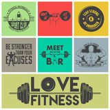 Fitness icons vector set. Royalty Free Stock Images