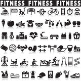 Fitness icons vector set icons. Health and Fitness icons vector set icons Royalty Free Stock Images