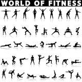 Fitness icons vector Stock Image