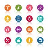 Fitness icons Stock Illustration