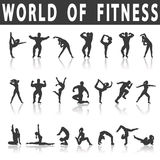 Fitness Icons Stock Image