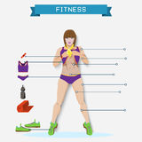 Fitness info graphic elements,fitness background, Stock Photo