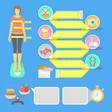 Fitness Infographic Elements Stock Photo