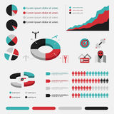 Fitness infographic in flat designed four colour Royalty Free Stock Image