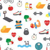 Fitness infographic. Vector icons Stock Photography