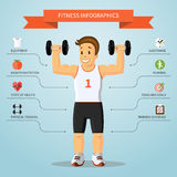 Fitness infographics concept. Vector illustration Royalty Free Stock Image