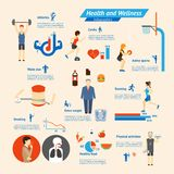 Fitness Infographics Royalty Free Stock Photos