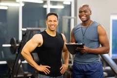 Fitness instructor client Royalty Free Stock Photography