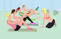Fitness instructor. Conducts classes at the club Royalty Free Stock Photography