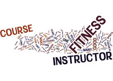 Fitness Instructor Course Text Background Word Cloud Concept Stock Photos