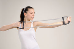 Fitness instructor exercising Royalty Free Stock Photo