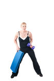 Fitness instructor  isolated on white Stock Image
