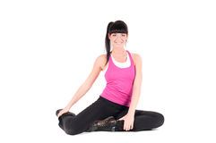 Fitness instructor  isolated on white Royalty Free Stock Photography