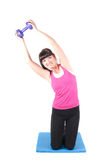 Fitness instructor  isolated on white Stock Images