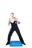 Fitness instructor  isolated on white Royalty Free Stock Image
