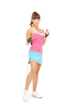 Fitness instructor with jump rope Stock Photography