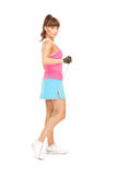 Fitness instructor with jump rope Stock Images