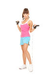 Fitness instructor with jump rope Royalty Free Stock Images
